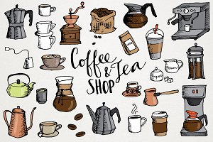 Coffee & Tea Shop Illustrations
