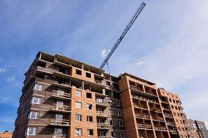 Development - Construction site, low angle view
