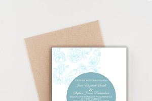 VINTAGE WEDDING INVITATION PRINTABLE