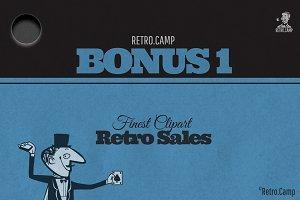 Retro Clipart BONUS 1 Bundle