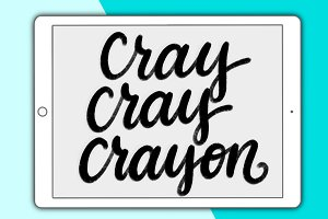 Cray Cray Crayon Procreate brush