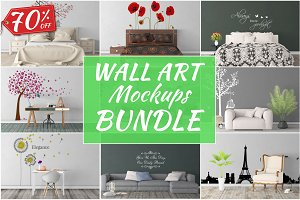 Wall Art Mockups BUNDLE V38
