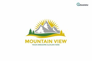 Mountain View Logo Template
