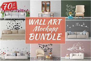 Wall Art Mockups BUNDLE V39