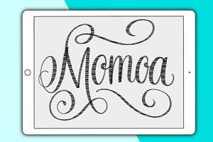 Momoa Procreate lettering brush