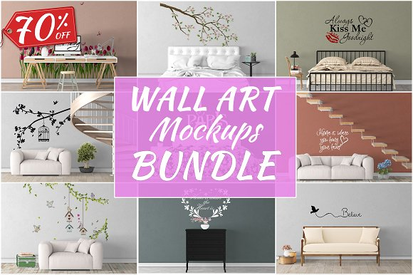 Download Wall Art Mockups BUNDLE V40