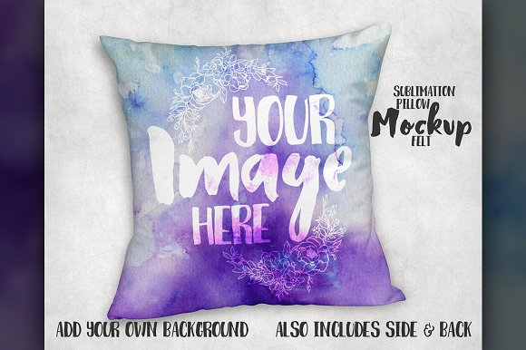 Felt pillow sham mockup-Graphicriver中文最全的素材分享平台