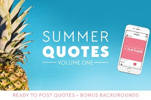 Ready To Post Summer Quotes