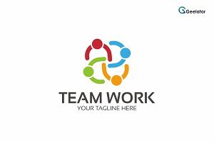 Team Work Logo Template