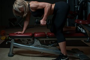 Woman Fitness Trainer Working Out 09