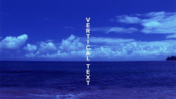 Vertical Text