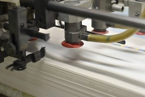 Printing press detail