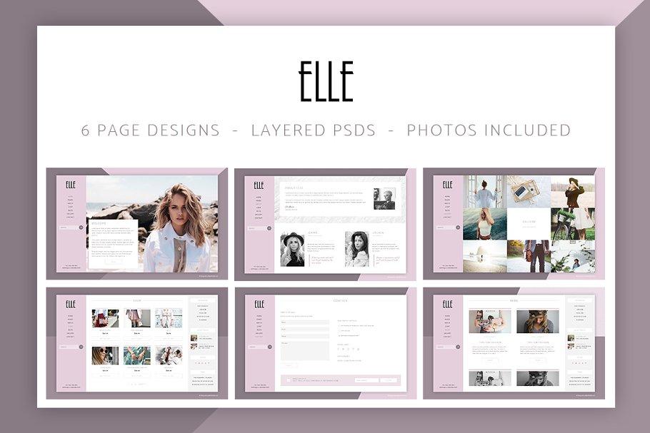 8cf599f97a Elle Fashion Shop & Blog Website PSD ~ Website Templates ~ Creative ...