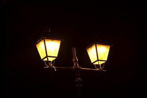 Street lamp night
