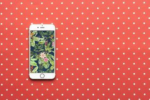 Polka Dot iPhone 6 Mockup