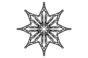Star handdrawn pattern