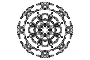 Round pattern, ornate style