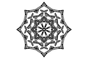 Handdrawn pattern, star shape