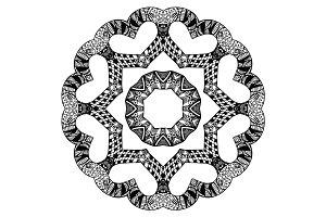 Futuristic round pattern