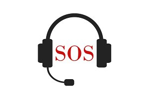 SOS call illustration