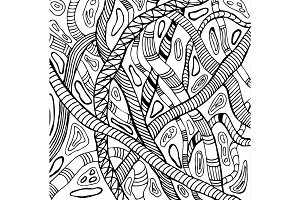 Abstract illustration of snakes