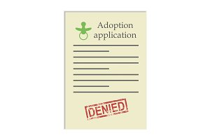 Adoption application with denied stamp