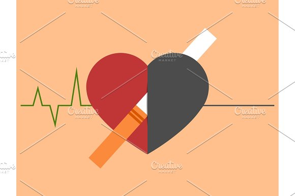 Heart Disease And Death Caused With Smoking