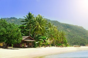 Tropical beach in koh Phangan, Thailand