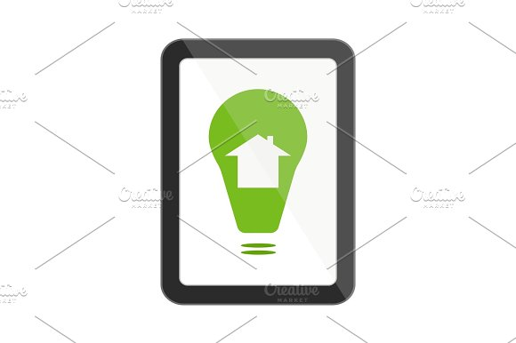 Tablet With Smart House Icon