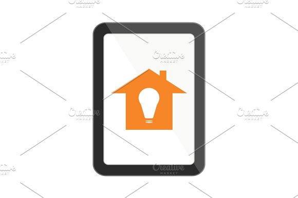 Tablet Computer With Smart House Icon