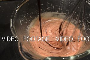 Timelapse of making brownie dough
