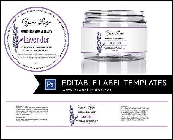 Jar Label Template id11 Stationery Templates Creative Market – Product Label Template