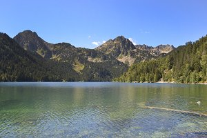 Sant Maurici lake, Lleida, Spain