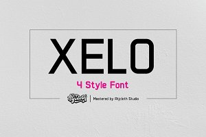 Xelo - 4 Style Font (30% off)