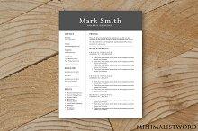 Dark Resume Template - MS Word