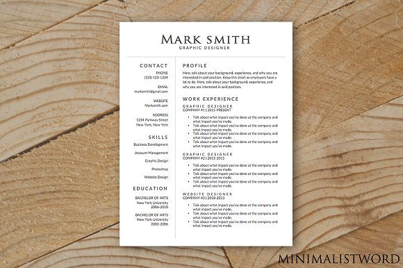Elegant Resume Template - MS Word ~ Resume Templates ~ Creative Market