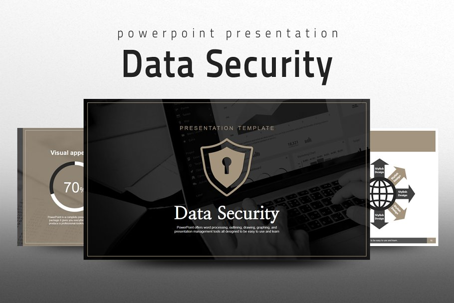 Data Security Ppt Powerpoint Templates Creative Market
