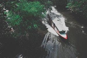 The boat in bangkok river