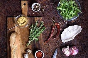 sandwich cooking ingredients