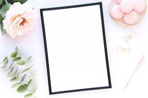 Styled stock photo with frame