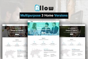 Allow One Page HTML5 Template