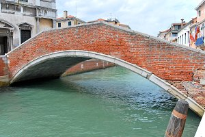 Old bridge in Venice, Italy
