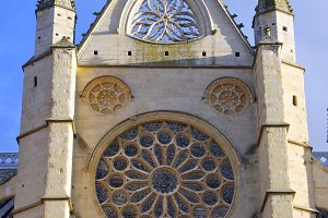 Cathedral of Leon rose window, Spain