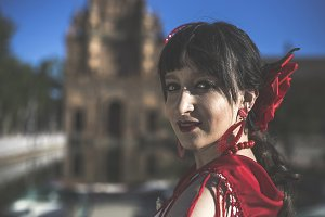 Flamenco young dancer