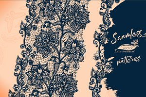 Abstract Lace Seamless Pattern