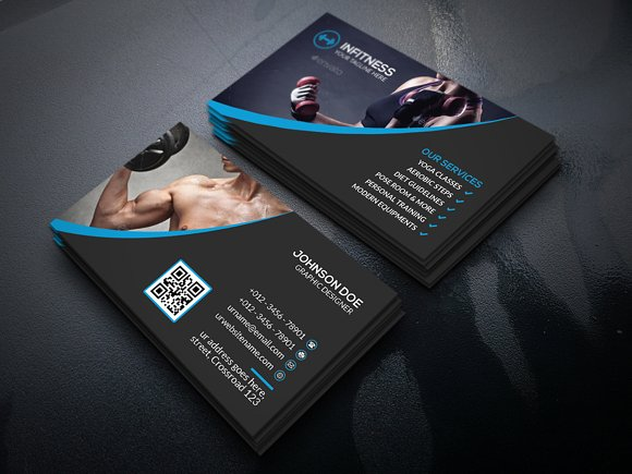 Fitness business cards gidiyedformapolitica fitness business cards fbccfo Choice Image