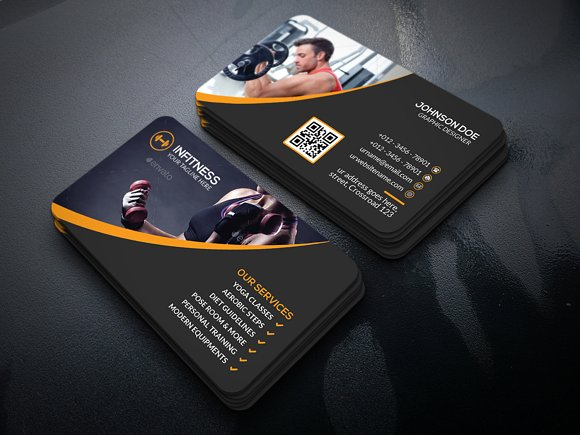 Fitness business cards etamemibawa fitness business cards cheaphphosting Gallery