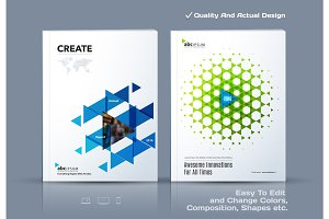 Business abstract vector template. Brochure design, cover modern