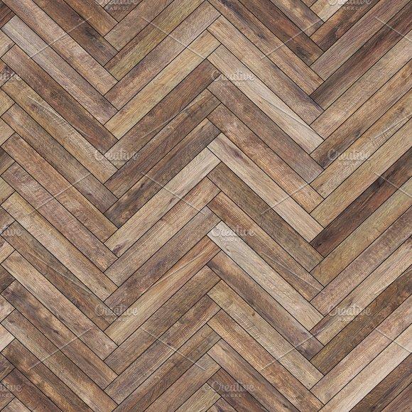Seamless wood parquet texture (herringbone brown)