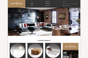 Shop The World Bootstrap Site Theme